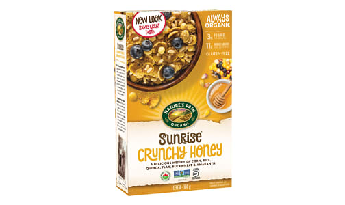 Organic Crunchy Honey Breakfast Cereal- Code#: CE1101