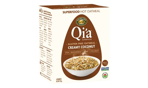 Organic Qi'a Hot Cereal - Creamy Coconut- Code#: CE1271