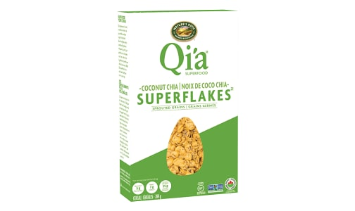 Organic Qi'a Coconut Chia Superflakes- Code#: CE1278