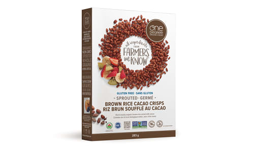 Organic Sprouted Brown Rice Cacao Crisps- Code#: CE1501