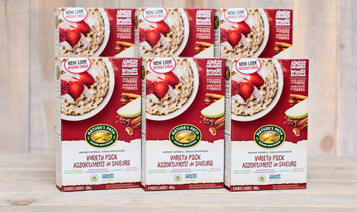 Organic Instant Oatmeal Variety Pack - CASE- Code#: CE210-CS