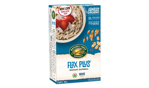 Organic Flax Plus Instant Hot Oatmeal- Code#: CE212