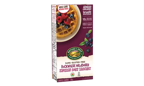 Buckwheat Wildberry Frozen Waffles - Gluten Free! (Frozen)- Code#: CE332