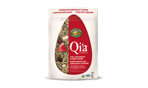 Organic Qi'a Superfood - Cranberry Vanilla - Chia, Buckwheat & Hemp Cereal- Code#: CE903