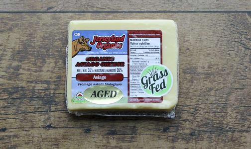 Organic Asiago Cheese, Aged- Code#: DA0089