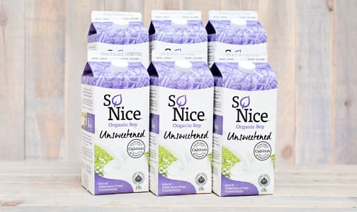 Organic Unsweetened Fresh Soy Milk - CASE- Code#: DA024-CS
