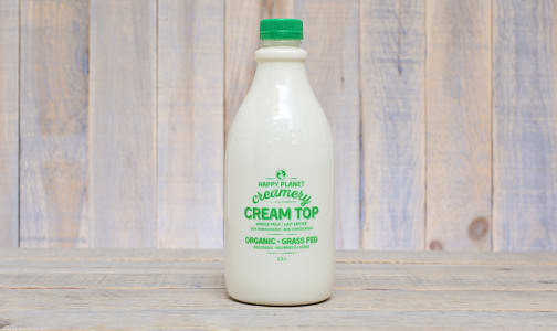 Organic Grass Fed Cream Top Whole Milk- Code#: DA0258