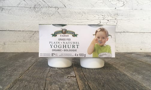 Organic Grass-Fed 8% Yogurt - Plain- Code#: DA0335