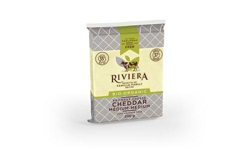 Organic Medium Cheddar Cheese,  Lactose Free- Code#: DA0446