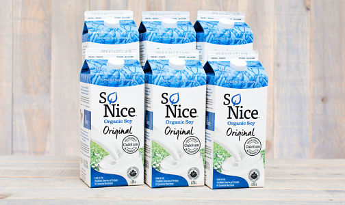 Organic Original Enriched Fresh Soy Milk - CASE- Code#: DA132-CS