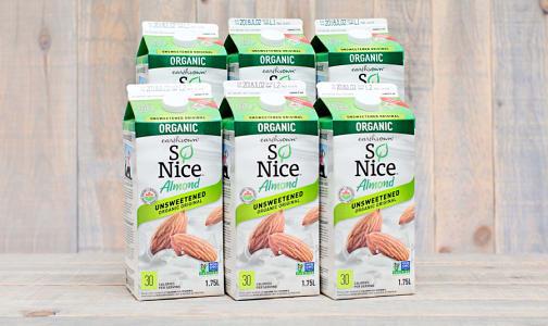 Organic Almond Beverage - Unsweetened (Carageenan free) - CASE- Code#: DA1601-CS