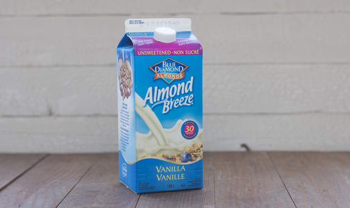 Almond Breeze Fresh, Unsweetened Vanilla- Code#: DA1637