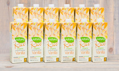 Organic Enriched Rice Beverage - Vanilla - CASE- Code#: DA213-CS