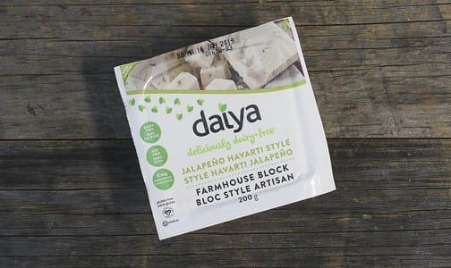 Dairy Free Havarti Jalapeno Garlic Style Wedge Cheese- Code#: DA3456