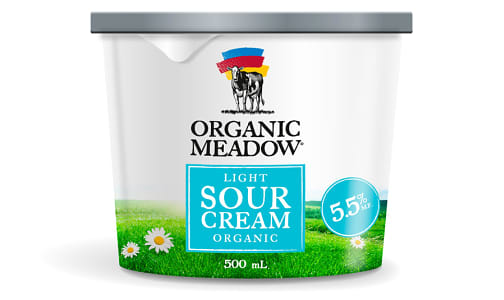 Organic Light Sour Cream - 5.5% MF- Code#: DA352