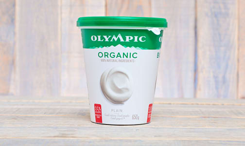 Organic Plain Yogurt 3.5%- Code#: DA372