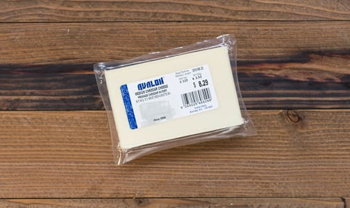 Medium Cheddar Cheese, White- Code#: DA410-NV