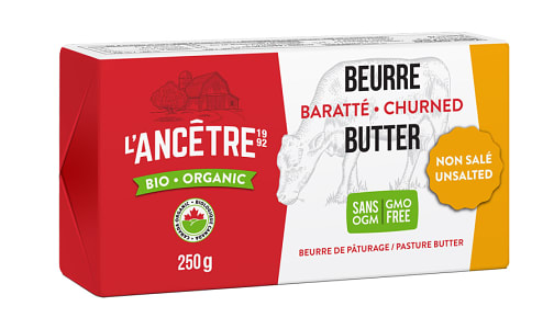 Organic Unsalted Butter (Frozen)- Code#: DA8018