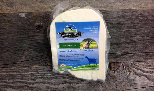 Organic Caerphilly Goat Cheese @4.99/100g ~250g- Code#: DA8033