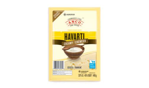 Creamy Havarti - Sliced- Code#: DC0041