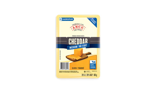 Medium Cheddar - Sliced- Code#: DC0042