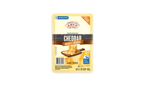 Marble Cheddar - Sliced- Code#: DC0043