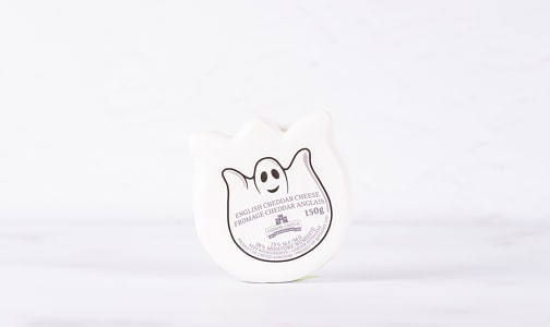 Ghost Shaped English Cheddar in White Wax- Code#: DC0375