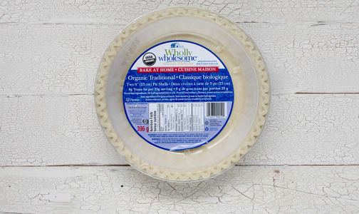 Organic Traditional Pie Shells (Frozen)- Code#: DE0122