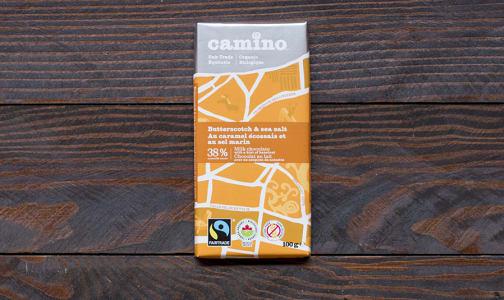 Organic Butterscotch Sea Salt Chocolate Bar- Code#: DE0127
