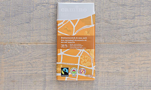 Organic Butterscotch & Sea Salt Chocolate Bar- Code#: DE0390