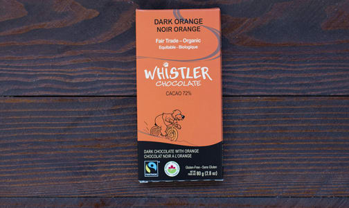 Organic Dark Orange Chocolate Bar- Code#: DE048