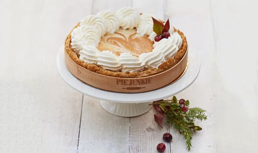 Pumpkin Candied Ginger Cheesecake Pie (Frozen)- Code#: DE0515