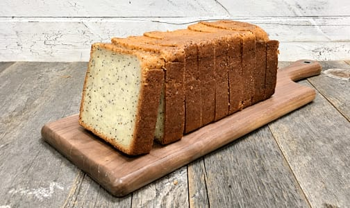 Lemon Poppyseed Loaf Pre-Sliced (Frozen)- Code#: DE0568