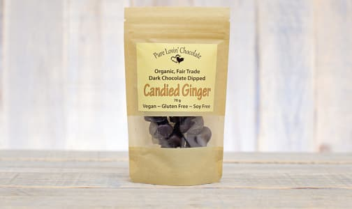 Organic Chocolate Covered Candied Ginger- Code#: DE0726