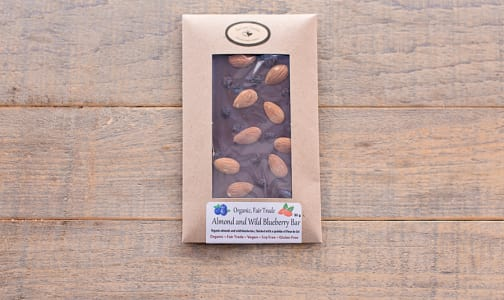 Organic Handcrafted Almond and Wild Blueberry Bar- Code#: DE0728