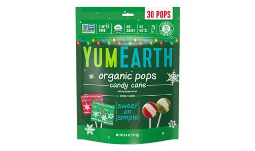 Organic Candy Cane Pops- Code#: DE0848
