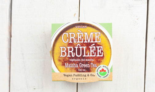 Organic Vegan Crème Brulee - Matcha Green Tea- Code#: DE1024