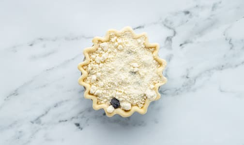 Blueberry Goat Cheese Crumble Pie 5  (Frozen)- Code#: DE1139