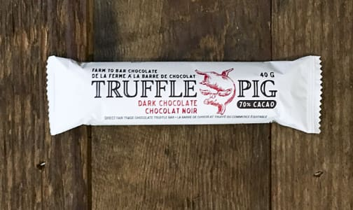Truffle Pig Dark Chocolate Bar- Code#: DE1203