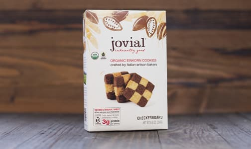 Organic Einkorn Checkerboard Cookies- Code#: DE1302