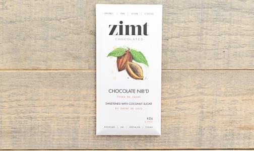 Organic Nib'd Raw Chocolate Bar - Sweetened with Coconut Sugar- Code#: DE1815
