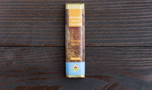 Organic Simply Dark Chocolate Bar- Code#: DE240