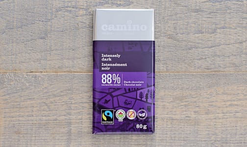 Organic Intensely Dark Chocolate Bar 88%- Code#: DE271