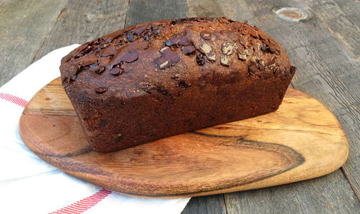Organic 1/2 size Banana Chocolate Chip Bread- Code#: DE3103