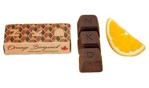 Organic Orange and Bergamont Raw Cacao Bar- Code#: DE8075