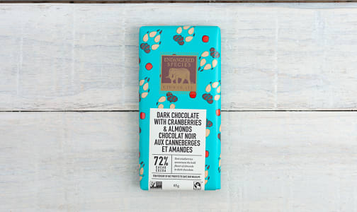 Dark Chocolate with Cranberries & Almonds (Wolf Bar)- Code#: DE834