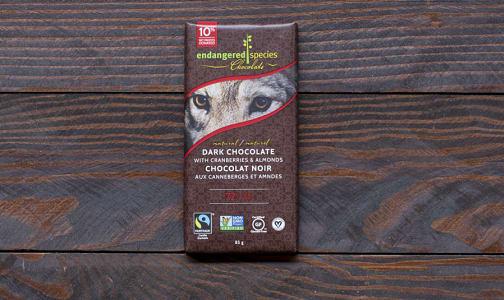 Wolf Bar - Dark Chocolate with Cranberries & Almonds- Code#: DE834