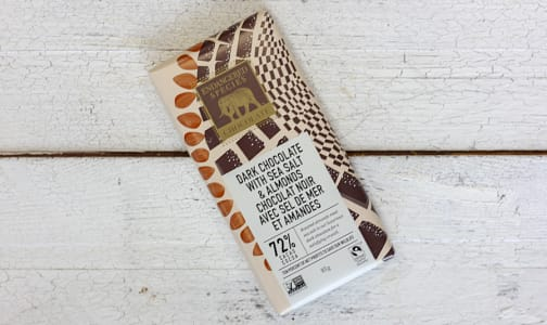 Dark Chocolate with Sea Salt and Almonds 72% Cocoa- Code#: DE838