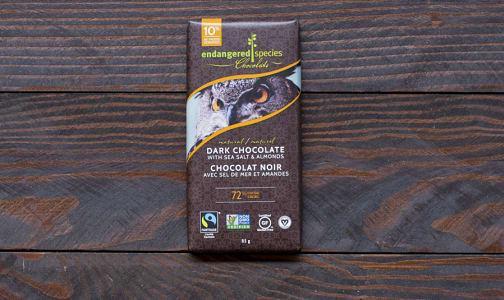Owl Bar - Dark Chocolate with Sea Salt and Almonds- Code#: DE838