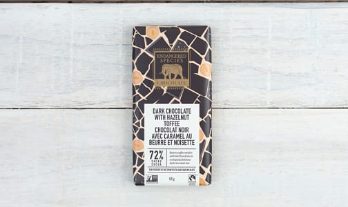 Dark Chocolate with Hazelnut Toffee (Rhino Bar)- Code#: DE839
